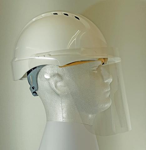 Detachable Face Shield for Hard Hats